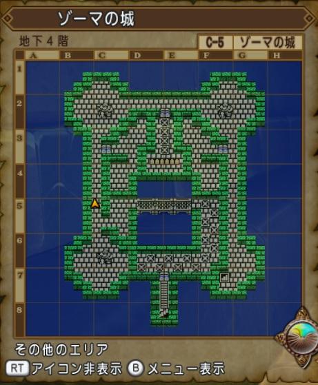 ゾーマの城-マップ